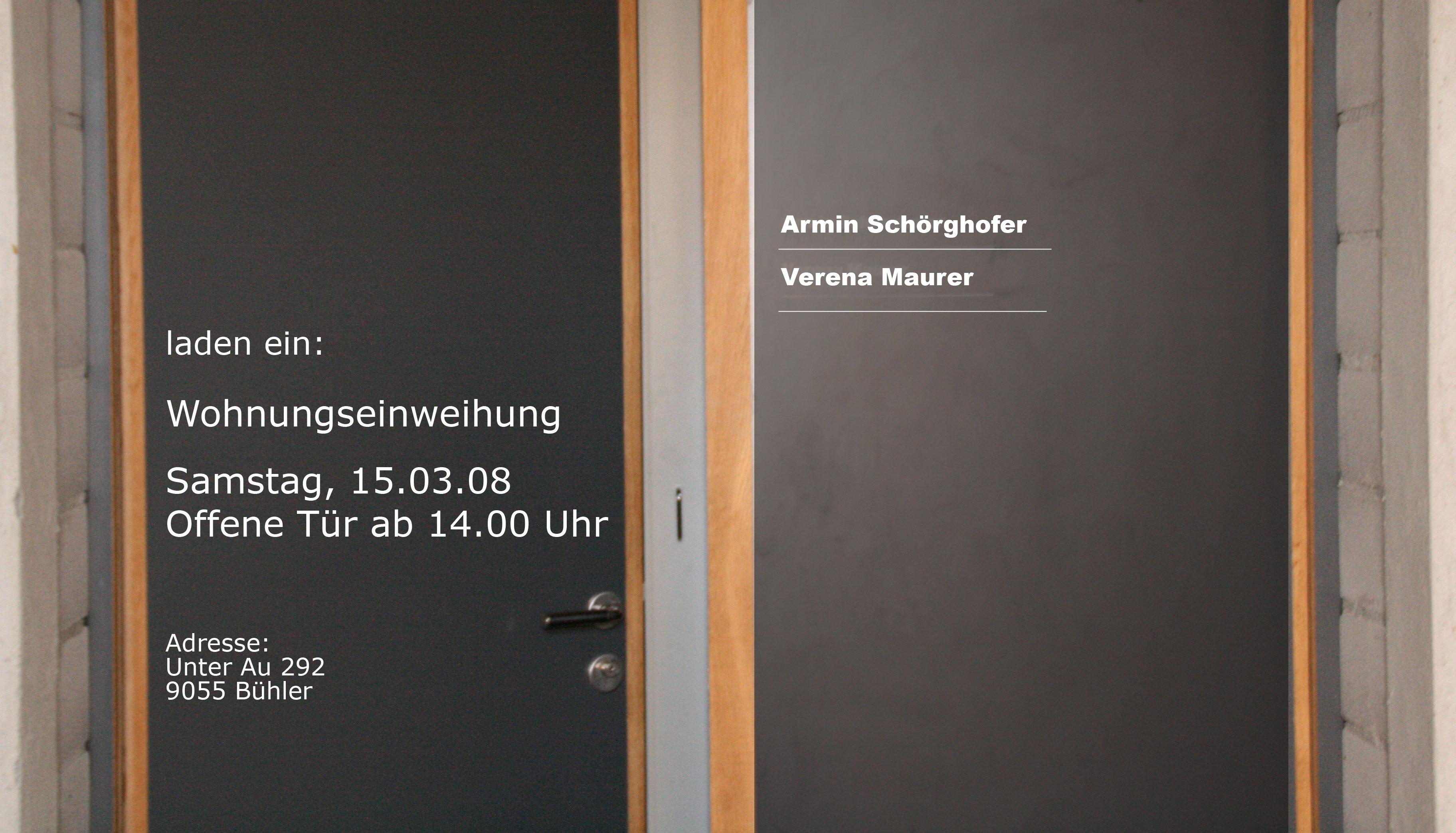 Wohnungseinweihung - Armin und Verena unterwegs